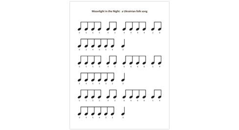 Moonlight in the night: a Ukrainian folk song