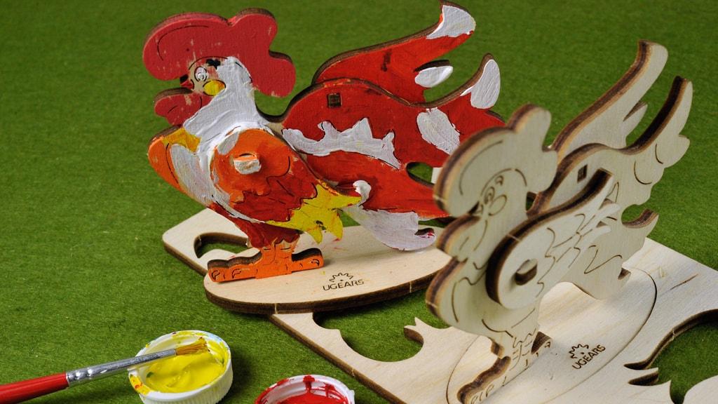 3D coloring model «Cockerel»