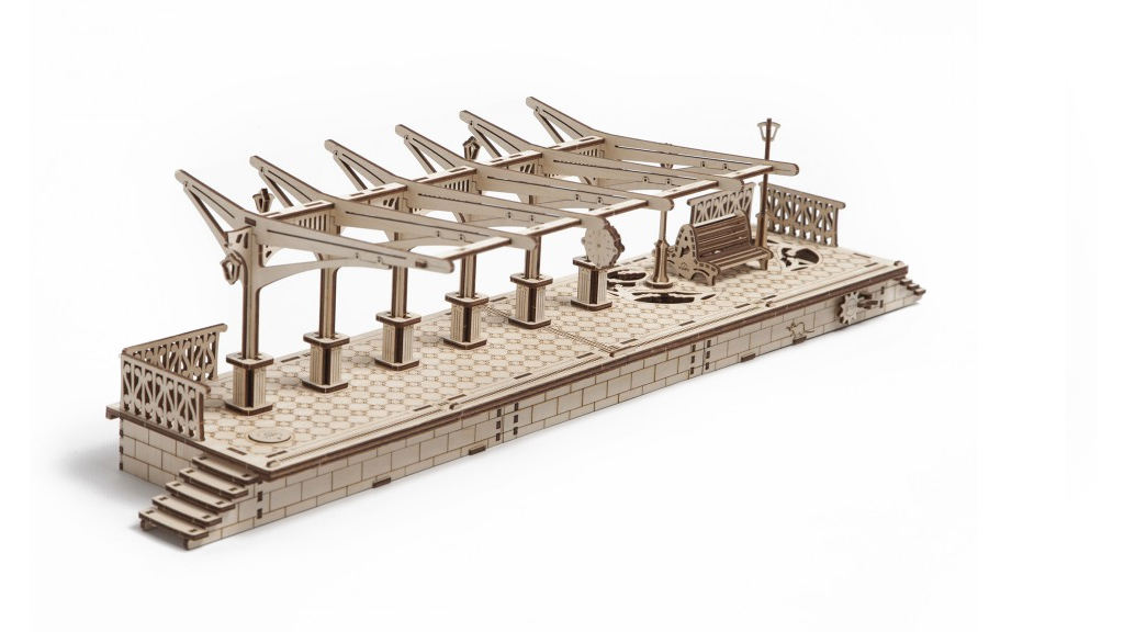 Railway Platform mechanical model kit