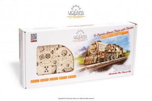 V-Express Steam Train with Tender mechanical model kit