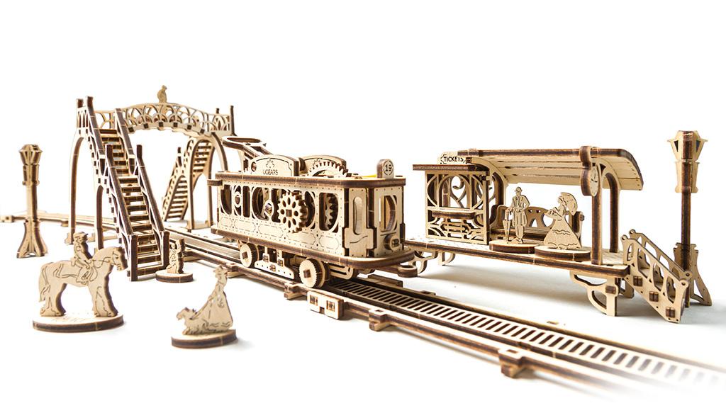"""Modellbausatz """"Straßenbahnlinie"""". Kollection """"Mechanische Stadt"""""""