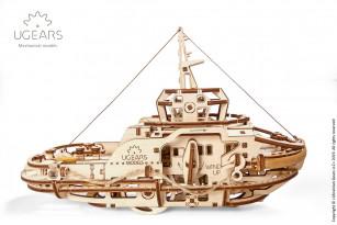 Tugboat mechanical model kit