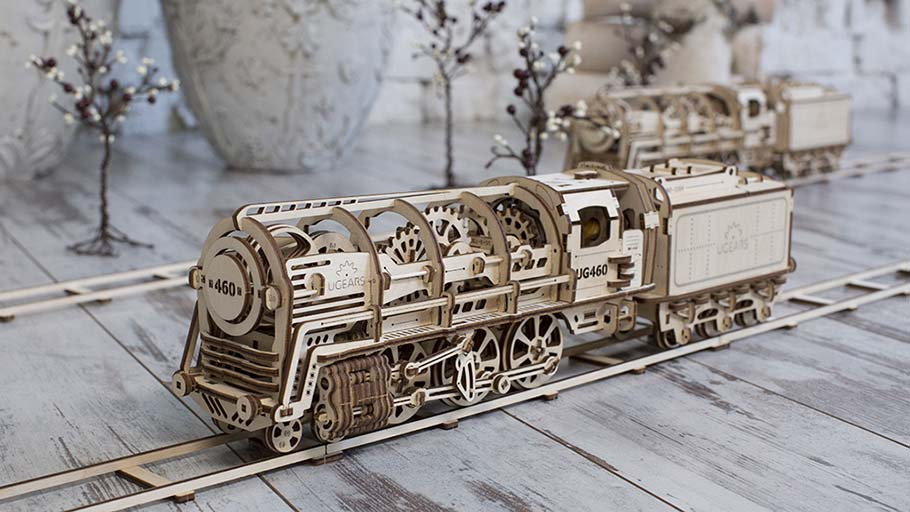 Mechanical model «Locomotive with tender» Ugears