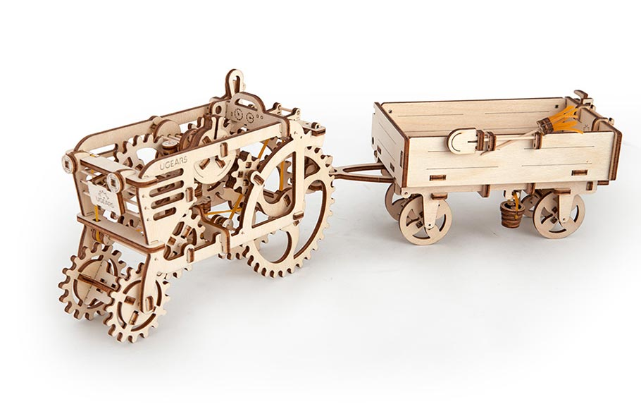 Mechanical tractor with trailer