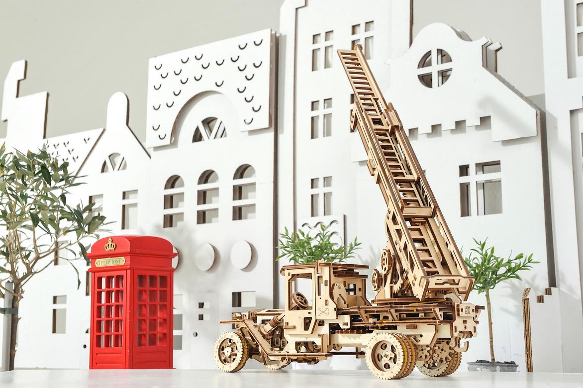 Ugears Fire Ladder Truck Model