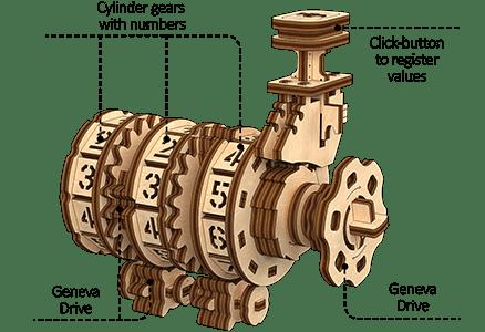 Mechanism 3D Wooden Puzzle «Counter»