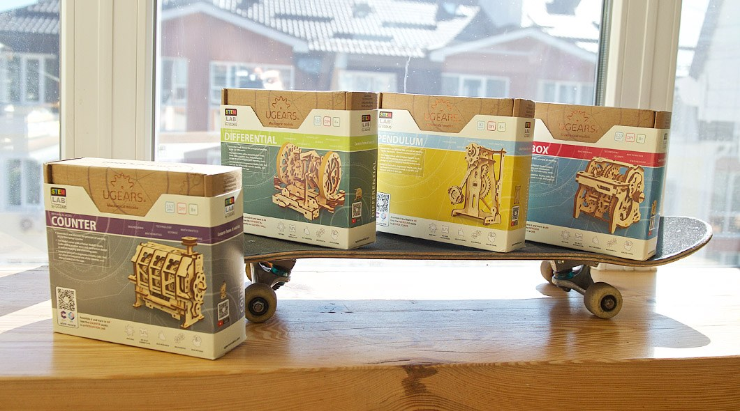 Ugears STEM-lab wooden mechanical models